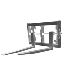 Attachment tools for Telehandlers - Pallet fork Floating