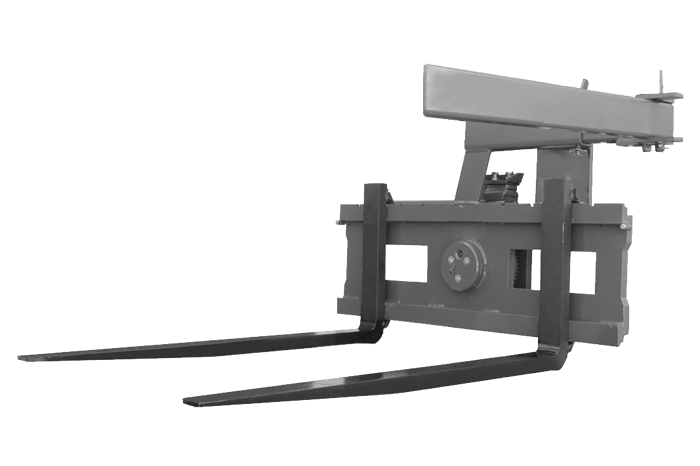 Pallet fork with rotating device - box rotator