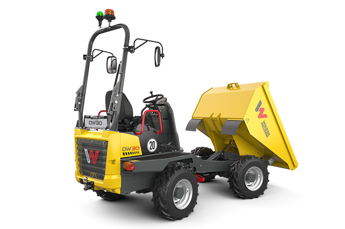 DW30 Wheel Dumper with canopy down